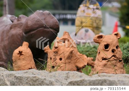 愛媛のこどもの城の粘土細工のハロウィン人形 70315544