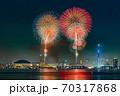 PayPayドームと花火 70317868