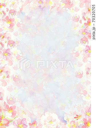 春 水彩で描いた桜の花の背景イラスト 70320705