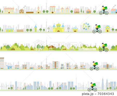 自転車デリバリー セット 70364343