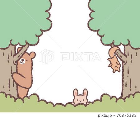 木と草と動物のフレーム2 70375335