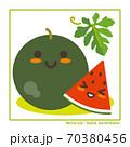 なちゅらるズ 黒玉すいか果実で収穫のご案内 70380456