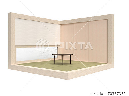 琉球畳のお部屋でのんびり(切り抜き済み・背景なし) 70387372