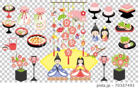 Hina祭矢量插圖素材集 70387493