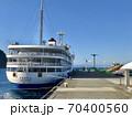 伊豆大島・岡田港に停泊中のフェリー(さるびあ丸) 70400560