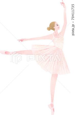 バレエを踊る女性 70411735