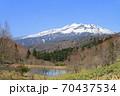 5月の野麦峠から望む乗鞍岳 70437534