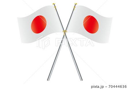 新世界の国旗2:3Verグラデーション波ポールクロス 日本 70444636