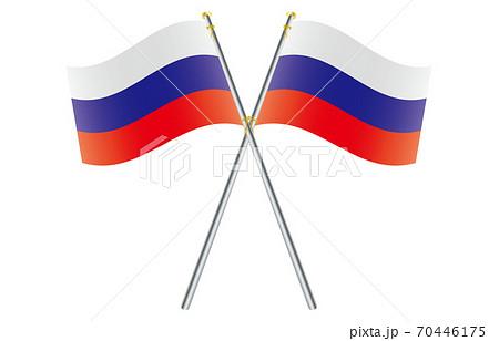 新世界の国旗2:3Verグラデーション波ポールクロス ロシア 70446175