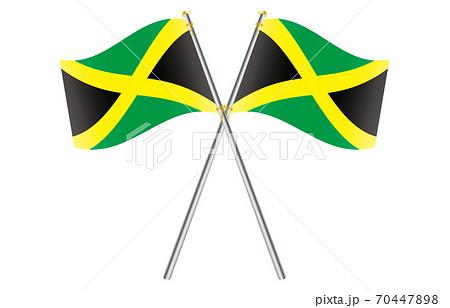 新世界の国旗2:3Verグラデーション波ポールクロス ジャマイカ 70447898