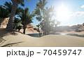 3d rendering - Oasis in the desert 70459747