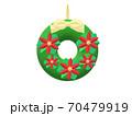 クリスマスリース 70479919