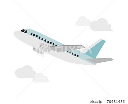 飛行機のベクターイラスト 70481486