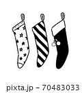 クリスマスの靴下飾り 70483033
