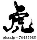 筆文字 虎.n 70489985