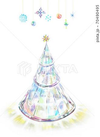 ガラスのクリスマスツリー オーナメント 70490495