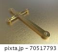 Modern  gold cross icon high resolution on golden background - 3d render 70517793