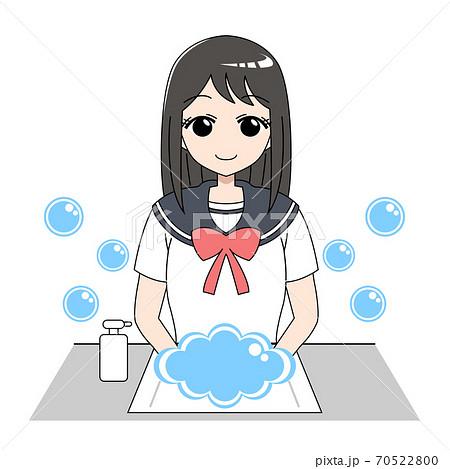 手洗い学生1 70522800