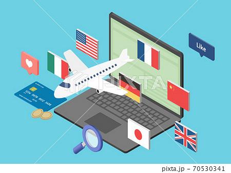 グローバル・輸入・貿易のイラスト素材 70530341