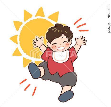 昼間、元気な赤ちゃんのイラスト 70539665