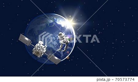 地球 探査機 鳥型探査機 ワイドサイズ(星あり) 70573774