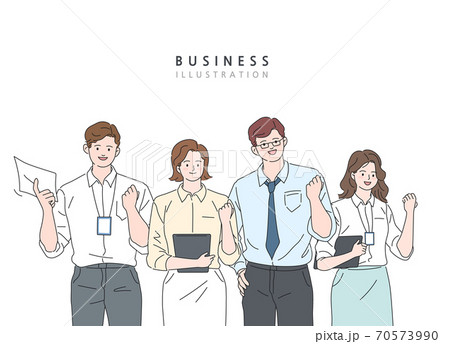 書類 タブレット ビジネスマン 70573990