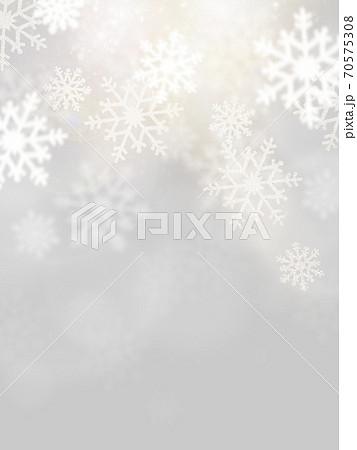 銀色に輝く雪の背景 - 複数のバリエーションがあります 70575308