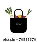 エコバッグと食材のイラスト 70586670