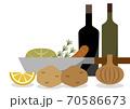 フライパン料理イメージイラスト 70586673