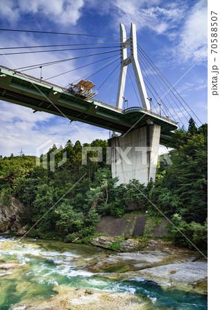(群馬県)みなかみ町諏訪峡大橋とバンジージャンプ 70588507
