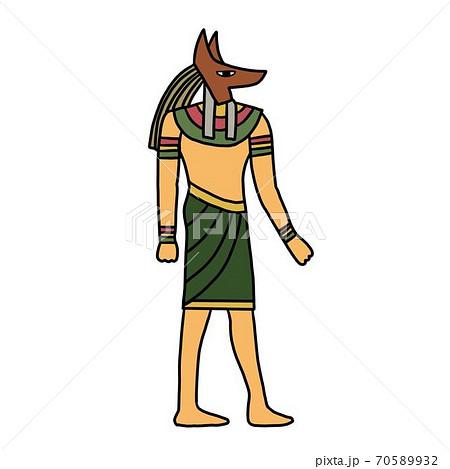 古代エジプトのアイコンイラスト素材 70589932