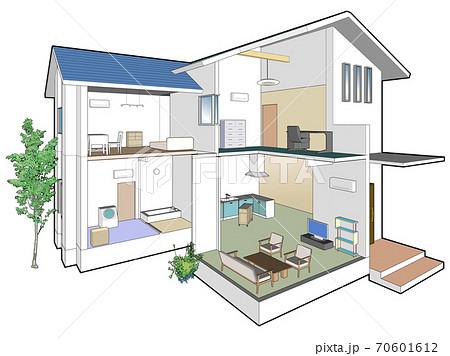 二点透視図法の家 70601612