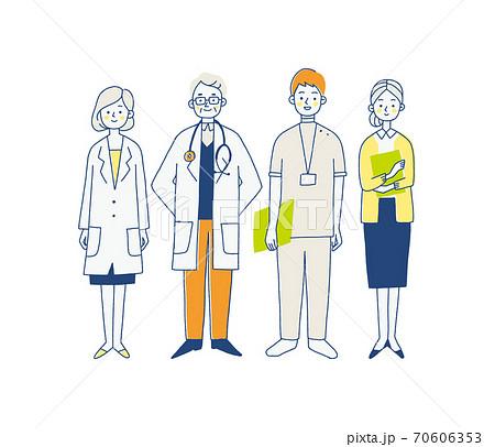 病院で働く人々のイラスト 70606353