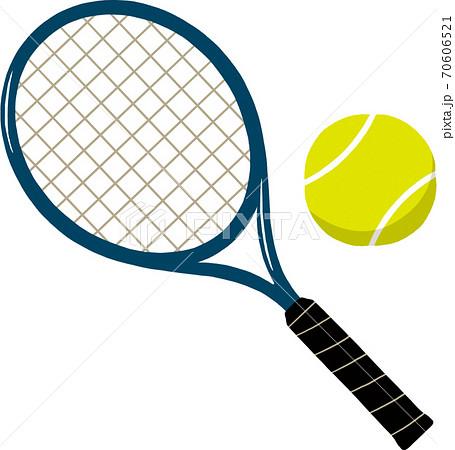 テニスラケットとボール 70606521