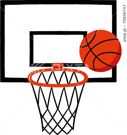 バスケットゴールとボール 70606747