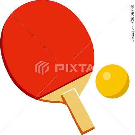 卓球ラケットとピンポン球 70606749