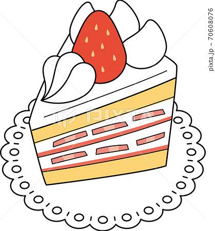 イチゴのショートケーキ 70608076