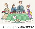 家族でおせち料理 70620942