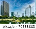 小石川後楽園と共に、今東京に残る江戸初期の大名庭園の一つ、都心のビルをバックにした旧芝離宮 70633883