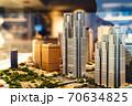 精巧に作られた新宿のジオラマに建つ東京都庁 70634825