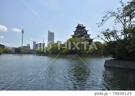 【広島県】広島城と広島市街地の街並み 70636124