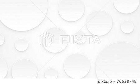 ペーパーカット 水玉 大小の丸の羅列【16:9】 70638749
