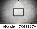 白い壁のスポットライトの背景グラフィックス素材 70638970
