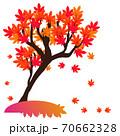 赤い紅葉の木イラスト 70662328