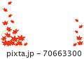 秋の葉の飾りフレーム 70663300