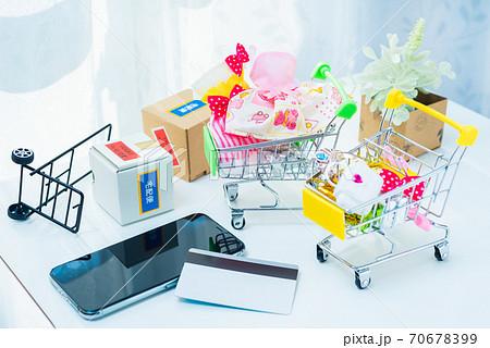 ネットショッピングのイメージ オンラインショッピング 70678399