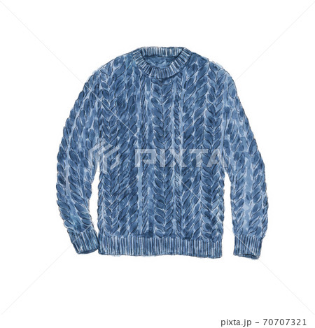 編み込みセーター 70707321