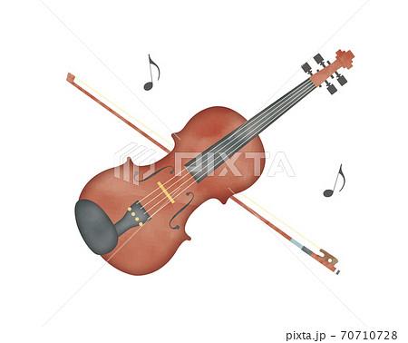 やさしい水彩カラーのバイオリン 70710728