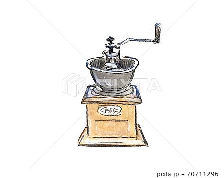 手描きのコーヒーミルイラスト 70711296