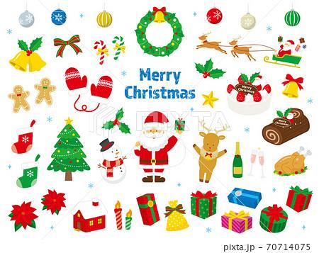 クリスマスのベクターイラストセット ノーマル 70714075